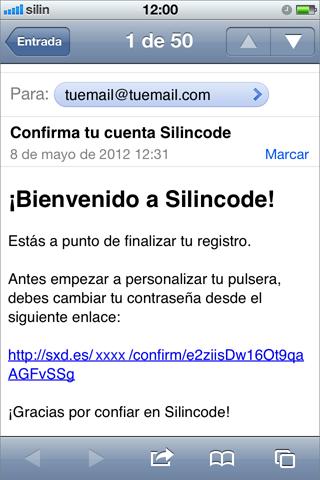 Se debe confirmar el enlace recibido de silincode join